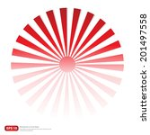 new red rising sun or sun ray... | Shutterstock .eps vector #201497558