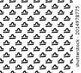 libra zodiac sign black and... | Shutterstock .eps vector #2014978775