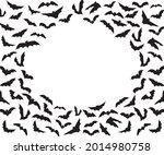 silhouettes of bats isolated on ...   Shutterstock .eps vector #2014980758