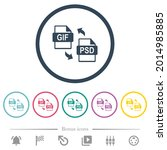 gif psd file conversion flat...   Shutterstock .eps vector #2014985885