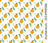 fruit seamless pattern. orange...   Shutterstock .eps vector #2014999088
