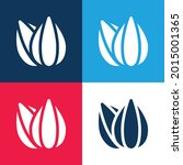 almond blue and red four color...   Shutterstock .eps vector #2015001365