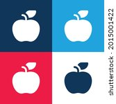 apple blue and red four color...   Shutterstock .eps vector #2015001422