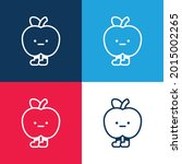 apple blue and red four color...   Shutterstock .eps vector #2015002265
