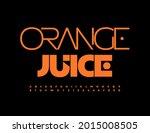 vector modern emblem orange...   Shutterstock .eps vector #2015008505