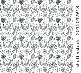 funny seamless pattern with...   Shutterstock .eps vector #2015012918