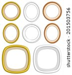 beautiful golden  wooden circle ... | Shutterstock .eps vector #201503756