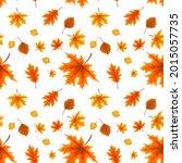 autumn orange and red fallen... | Shutterstock .eps vector #2015057735