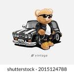 vintage slogan with bear doll...   Shutterstock .eps vector #2015124788