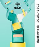 various stationery and school... | Shutterstock .eps vector #2015149802