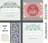 wedding invitation cards with...   Shutterstock .eps vector #201515708