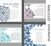 wedding invitation cards with... | Shutterstock .eps vector #201515846