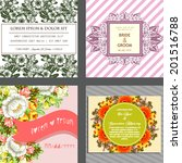 wedding invitation cards with... | Shutterstock . vector #201516788