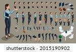 set of gestures of a woman's...   Shutterstock .eps vector #2015190902