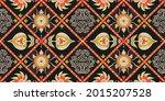 ikat geometric folklore... | Shutterstock .eps vector #2015207528