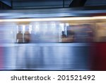 subway car traveling in motion... | Shutterstock . vector #201521492