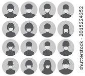 set of round avatars in medical ... | Shutterstock . vector #2015224352