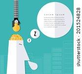 modern business stealing idea... | Shutterstock .eps vector #201524828