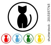cat icon with color variations. ...   Shutterstock .eps vector #2015357765