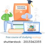 free course of studying ecology ...   Shutterstock .eps vector #2015362355