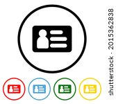 id card icon with color...   Shutterstock .eps vector #2015362838
