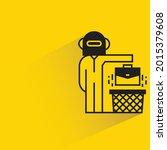 robot employee and briefcase...   Shutterstock .eps vector #2015379608