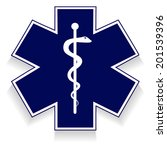 medical symbol of the emergency ... | Shutterstock .eps vector #201539396