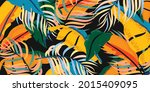 tropical leaves and jungle...   Shutterstock .eps vector #2015409095