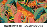 tropical leaves and jungle...   Shutterstock .eps vector #2015409098