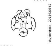 conceptual design of gay couple ... | Shutterstock .eps vector #2015430962
