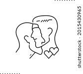 conceptual design of gay couple ... | Shutterstock .eps vector #2015430965