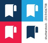 bookmark blue and red four...