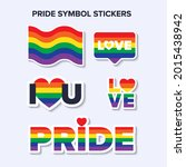 vector pride symbols set for... | Shutterstock .eps vector #2015438942