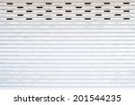 grunge metallic roller shutter...   Shutterstock . vector #201544235