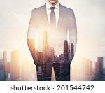 double exposure of businessman... | Shutterstock . vector #201544742