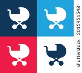 baby stroller blue and red four ... | Shutterstock .eps vector #2015451548