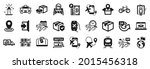 set of transportation icons ...   Shutterstock .eps vector #2015456318