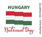 hungary national day lettering...   Shutterstock .eps vector #2015468735