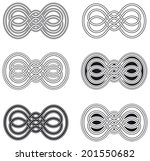 celtic knot six different... | Shutterstock .eps vector #201550682