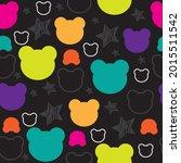 bear seamless pattern vector... | Shutterstock .eps vector #2015511542