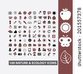 100 nature  ecology  climate ...   Shutterstock .eps vector #201557378
