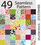 49 seamless pattern set vector... | Shutterstock .eps vector #201558488