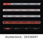 web bar menu with button for... | Shutterstock .eps vector #20156047