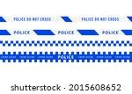police warning blue tape set.... | Shutterstock .eps vector #2015608652