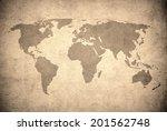 grunge map of the world  | Shutterstock . vector #201562748