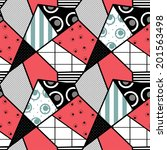 patchwork seamless abstract... | Shutterstock . vector #201563498