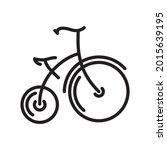antique highwheel bike freehand ...   Shutterstock .eps vector #2015639195
