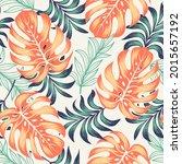trendy seamless tropical... | Shutterstock .eps vector #2015657192