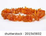 Ladies Necklace Amber Beads  O...