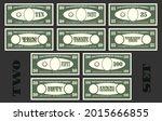 first set of us paper money...   Shutterstock .eps vector #2015666855